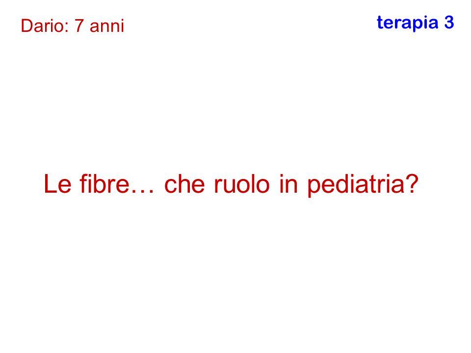 Le fibre… che ruolo in pediatria