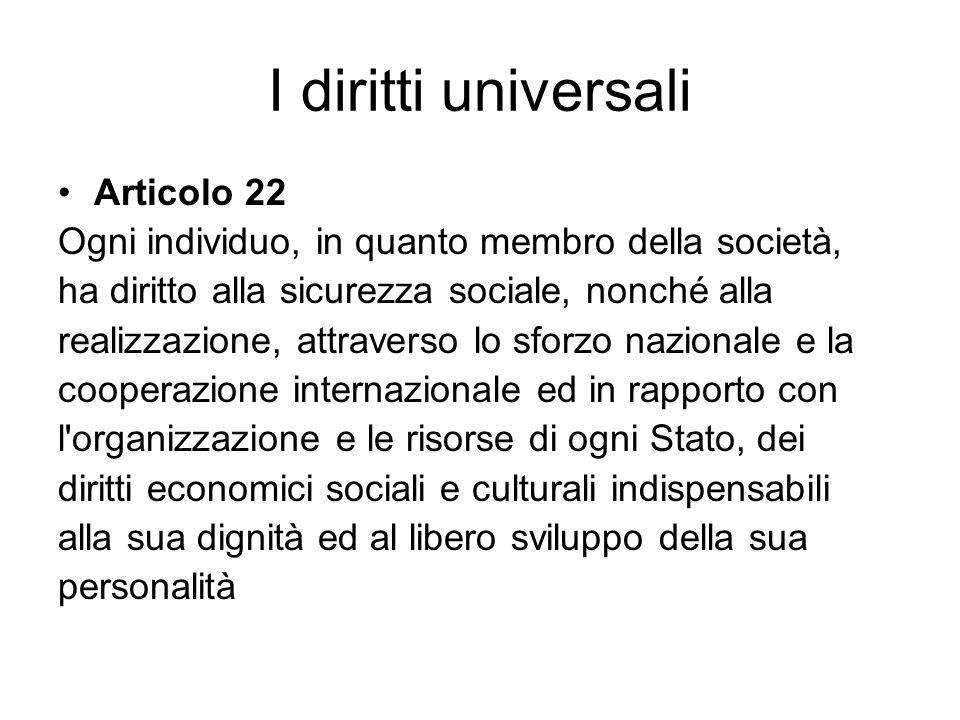 I diritti universali Articolo 22
