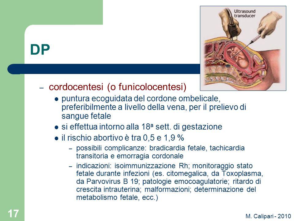DP cordocentesi (o funicolocentesi)