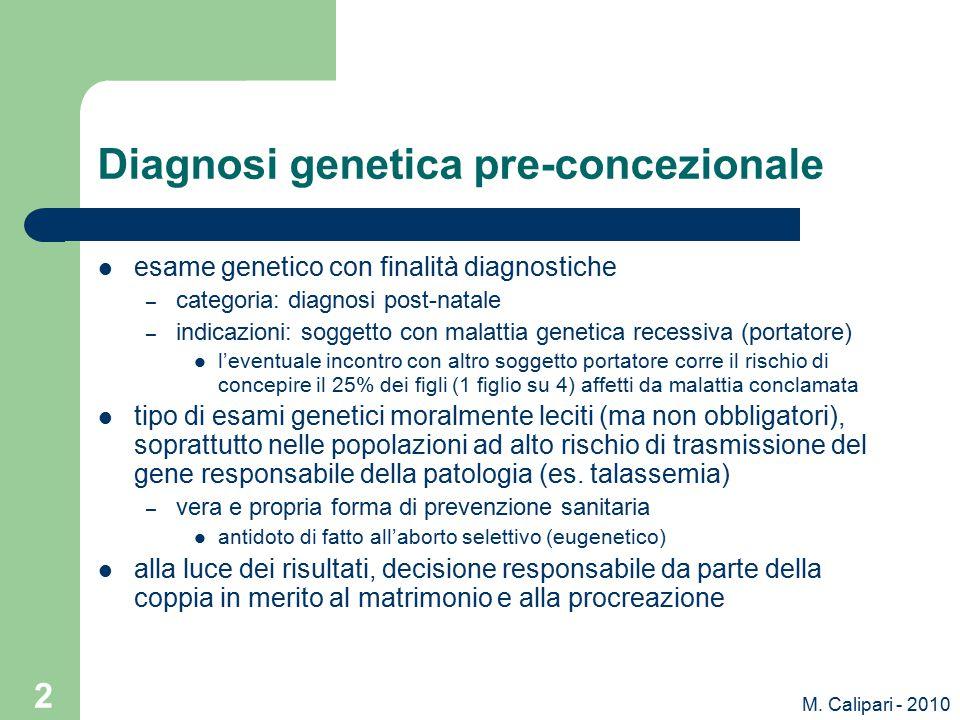 Diagnosi genetica pre-concezionale