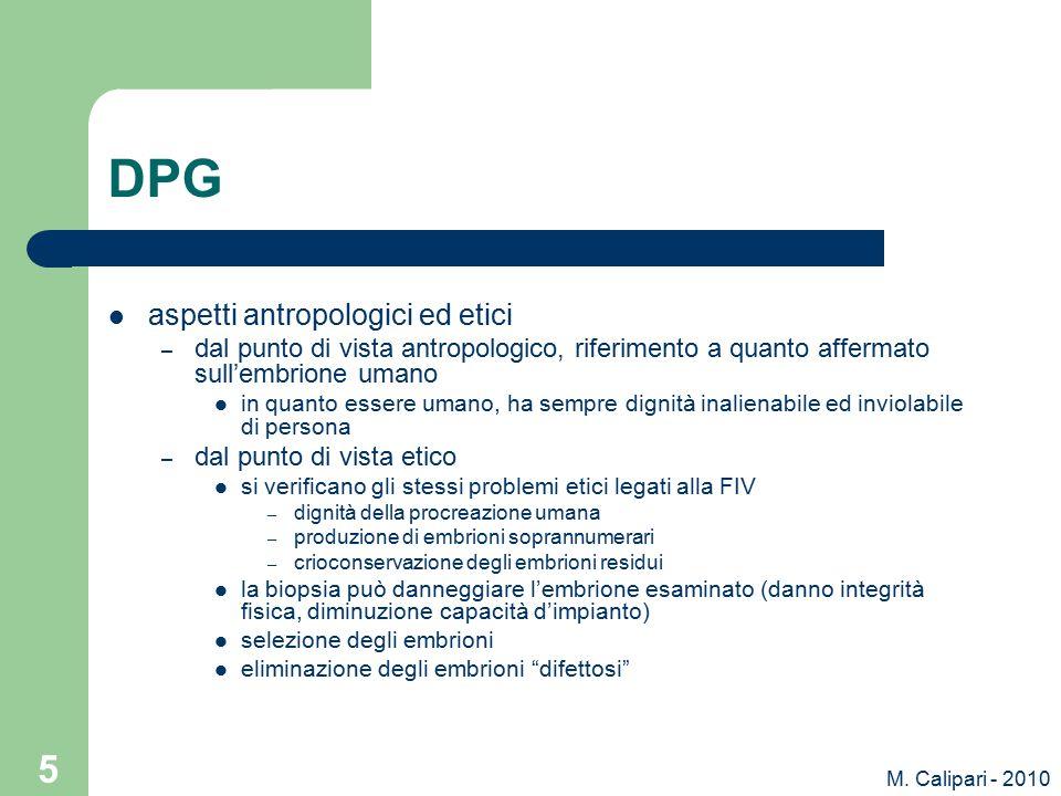 DPG aspetti antropologici ed etici