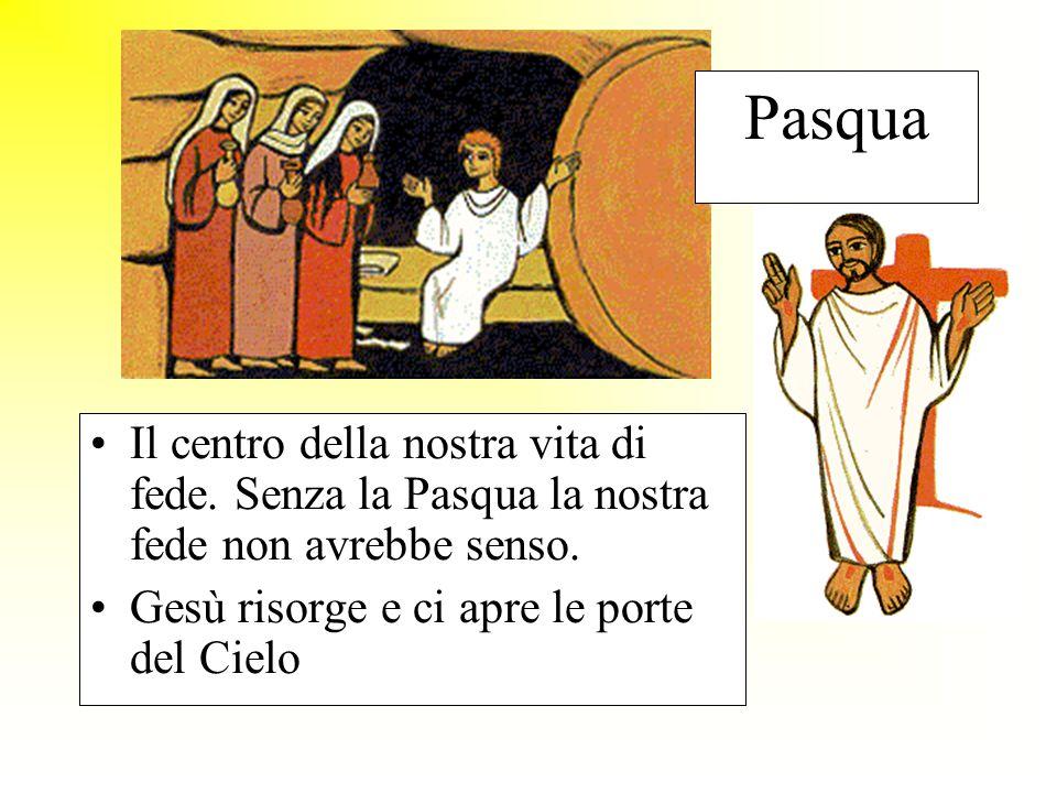 Pasqua Il centro della nostra vita di fede. Senza la Pasqua la nostra fede non avrebbe senso.