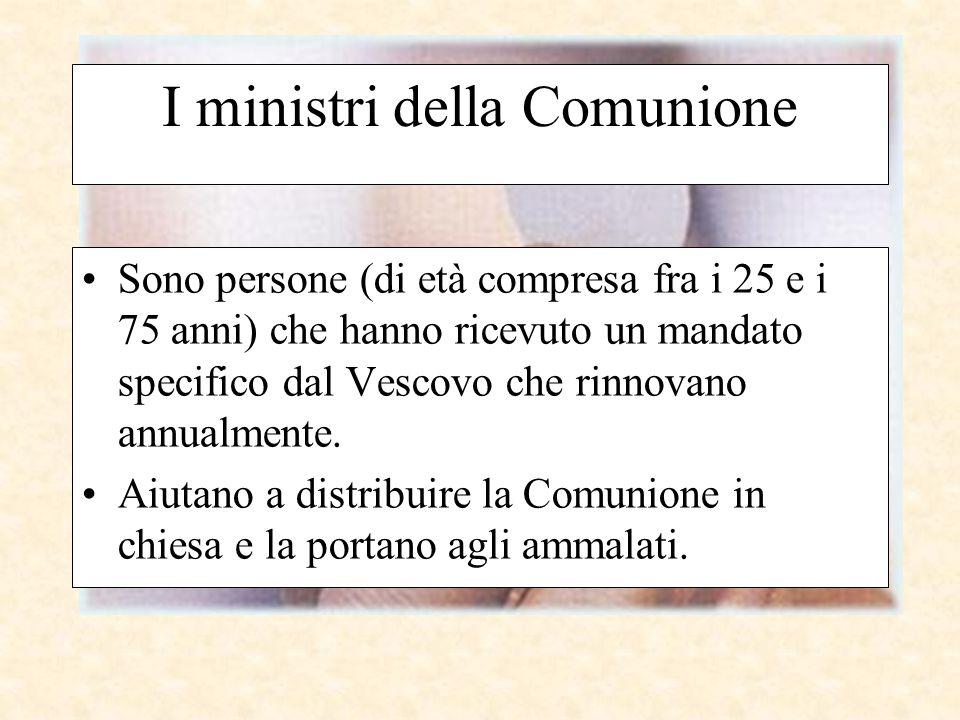 I ministri della Comunione