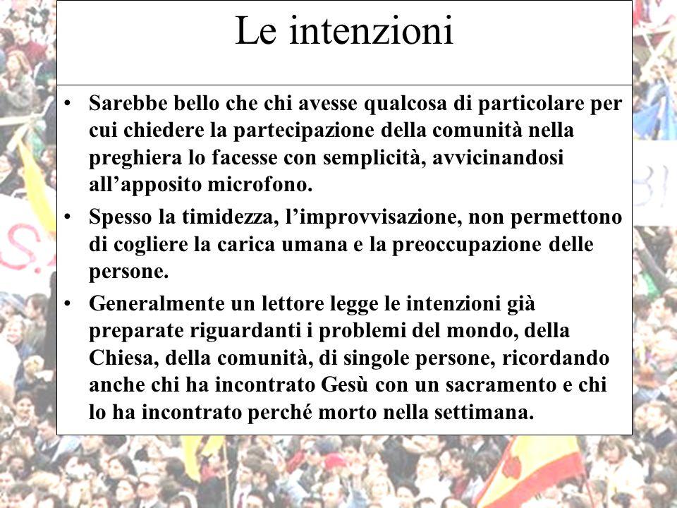 Le intenzioni