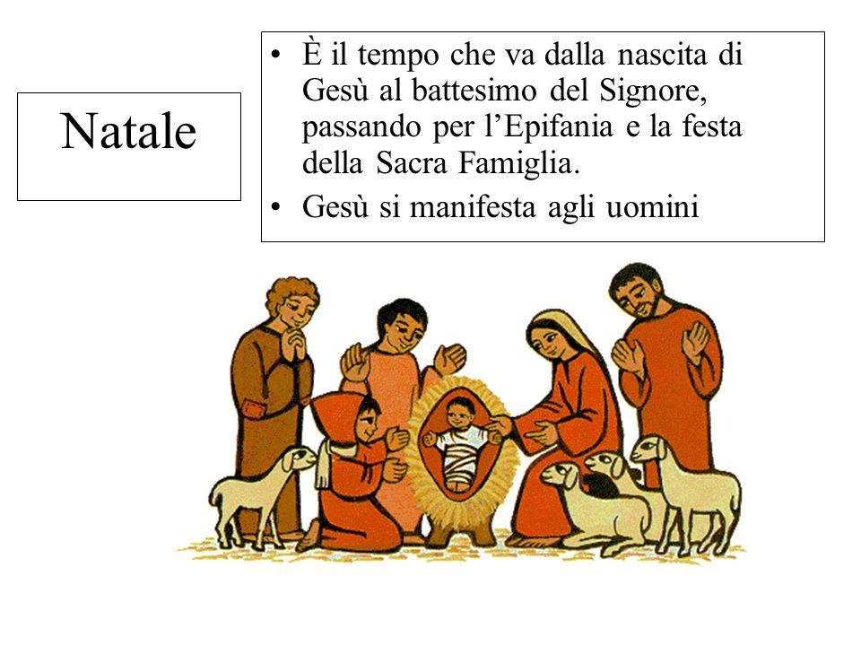 È il tempo che va dalla nascita di Gesù al battesimo del Signore, passando per l'Epifania e la festa della Sacra Famiglia.