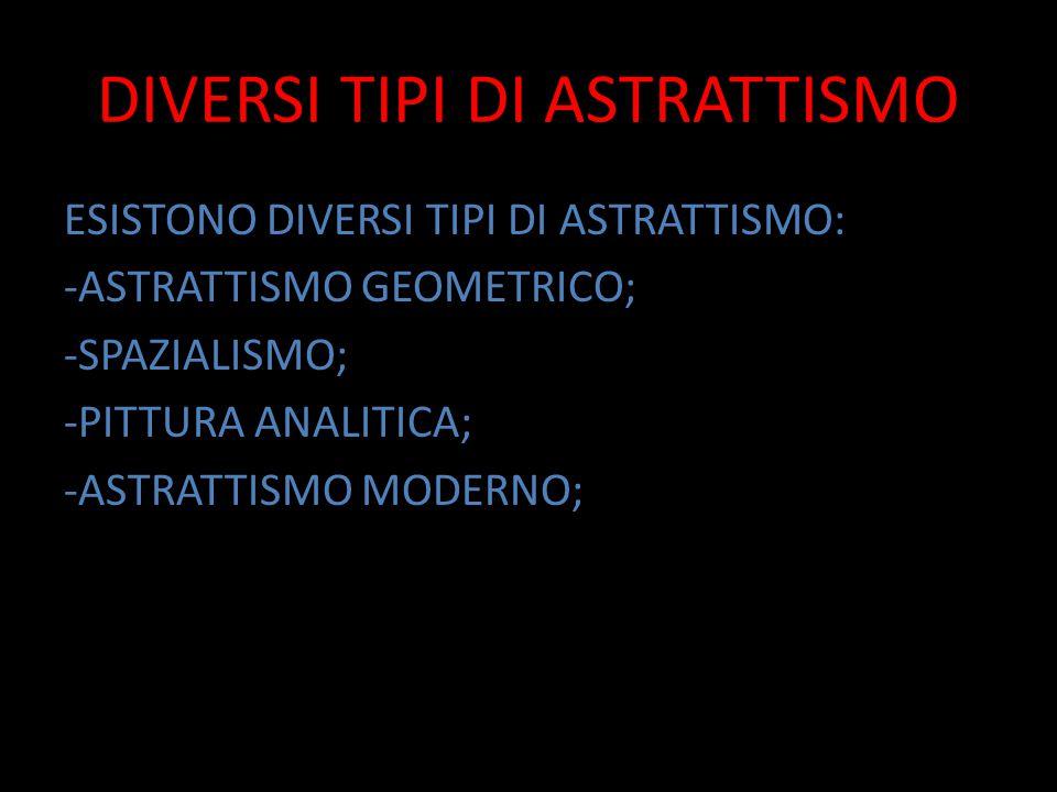 DIVERSI TIPI DI ASTRATTISMO