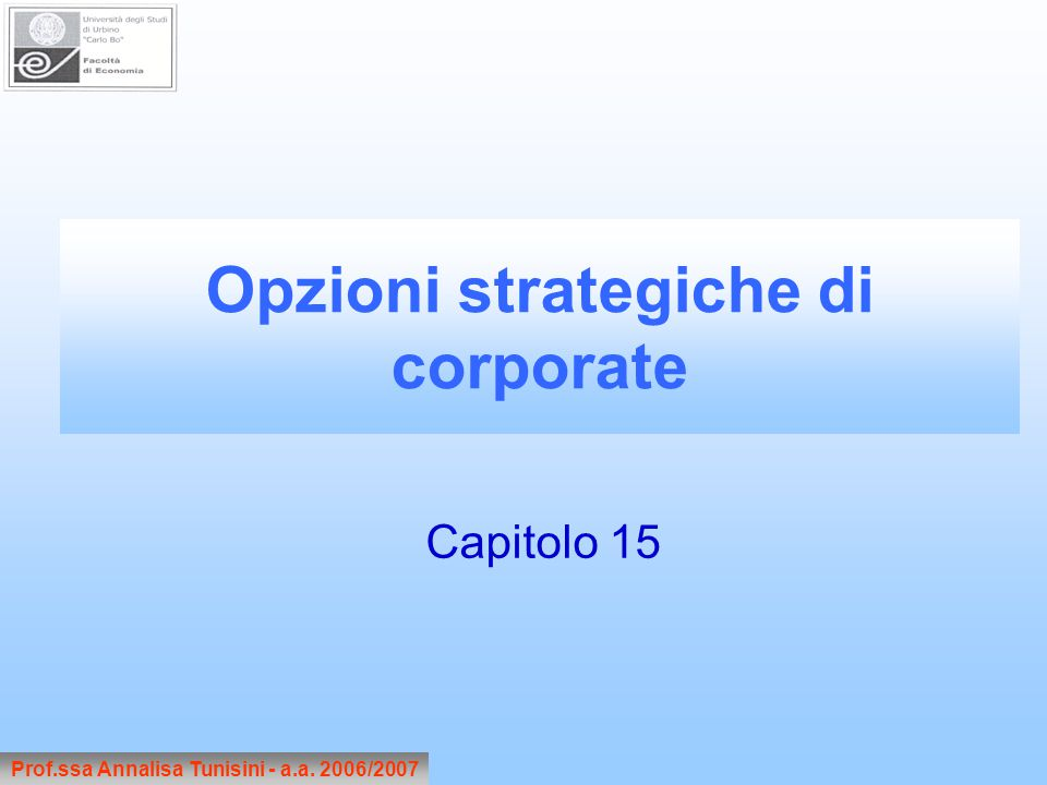 Opzioni strategiche di corporate