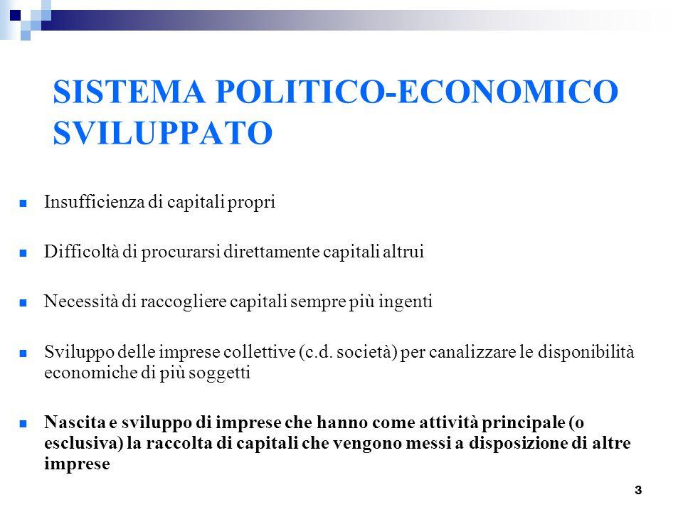 SISTEMA POLITICO-ECONOMICO SVILUPPATO