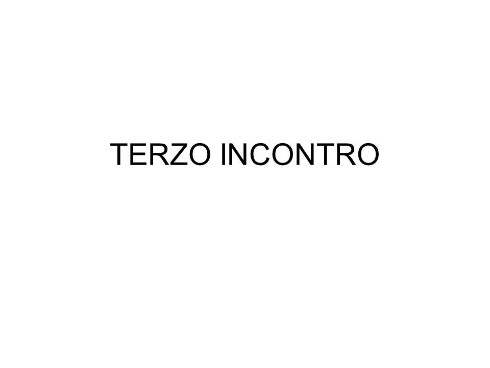 TERZO INCONTRO