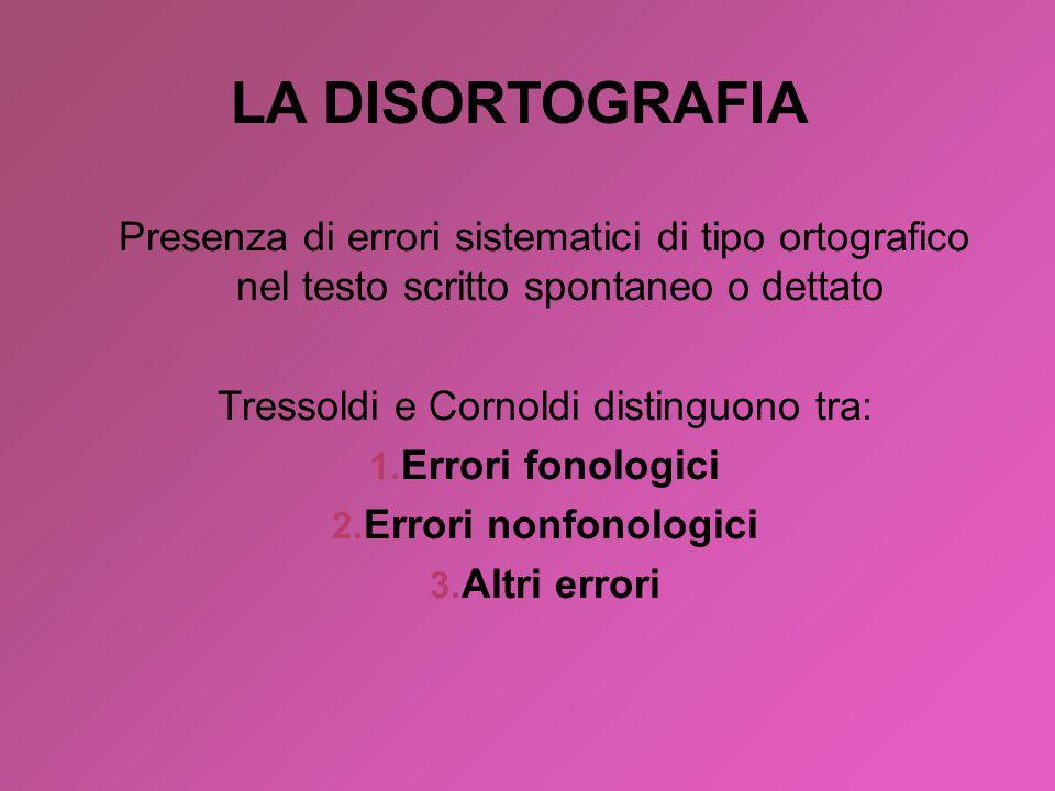 Tressoldi e Cornoldi distinguono tra: