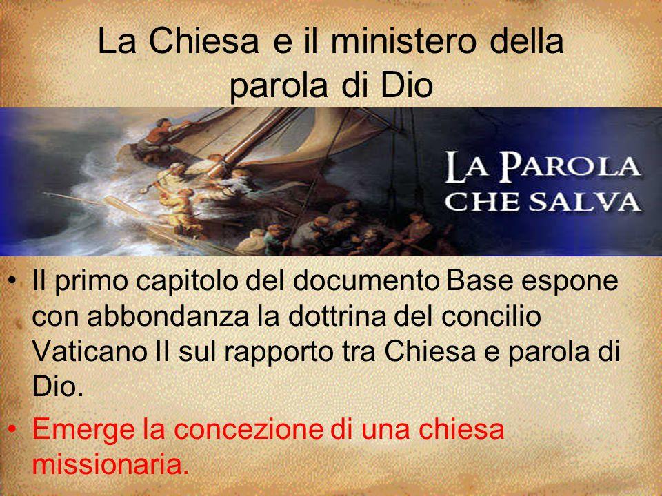 La Chiesa e il ministero della parola di Dio
