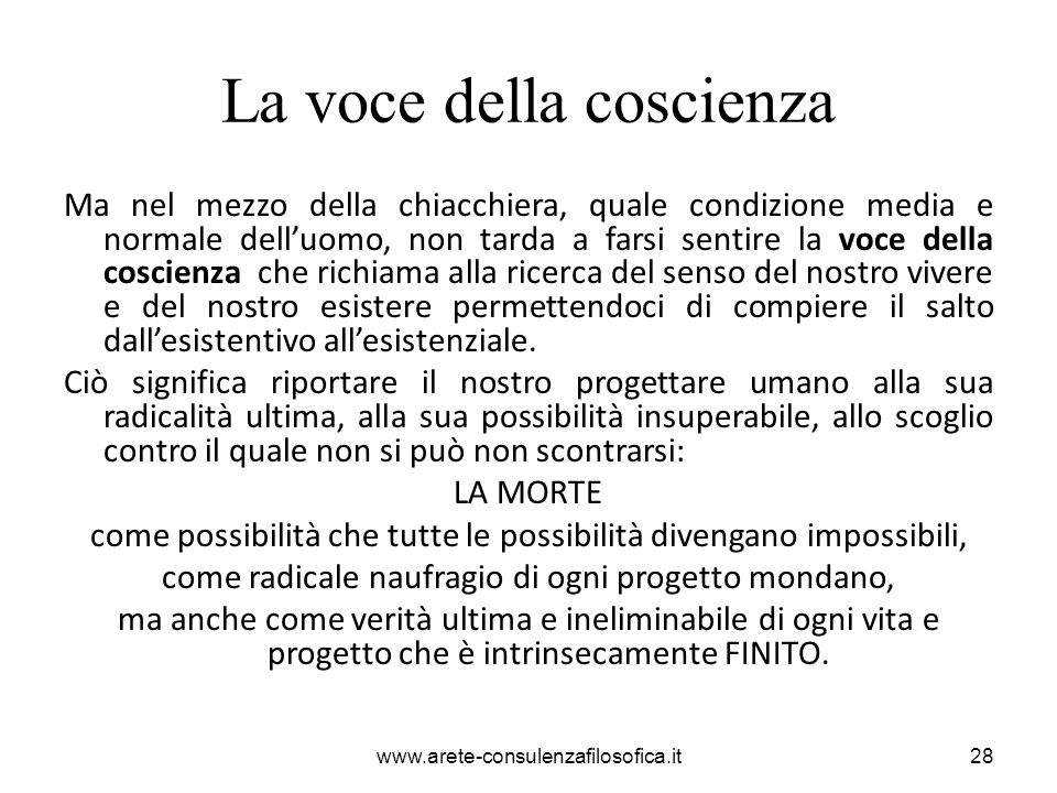 La voce della coscienza