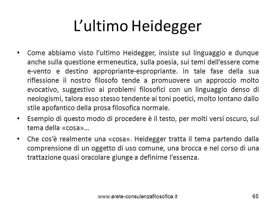L'ultimo Heidegger