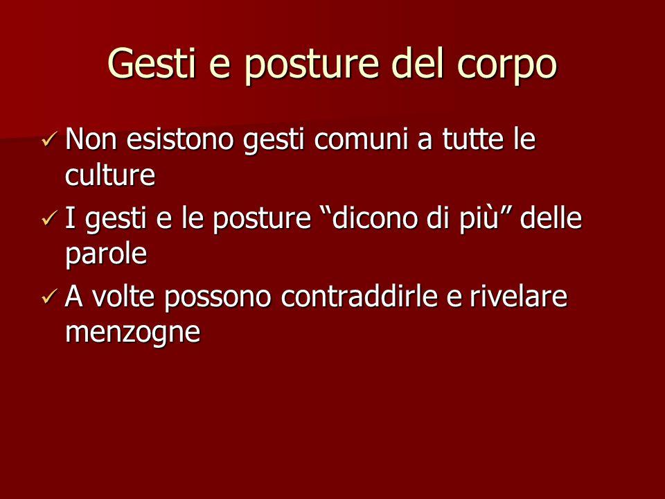Gesti e posture del corpo