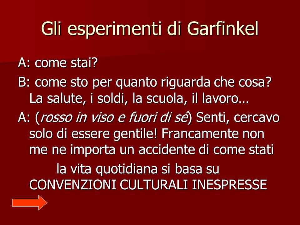 Gli esperimenti di Garfinkel