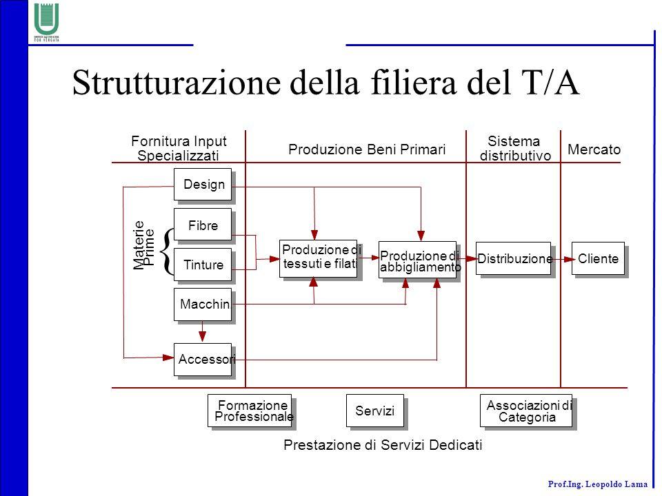 Strutturazione della filiera del T/A