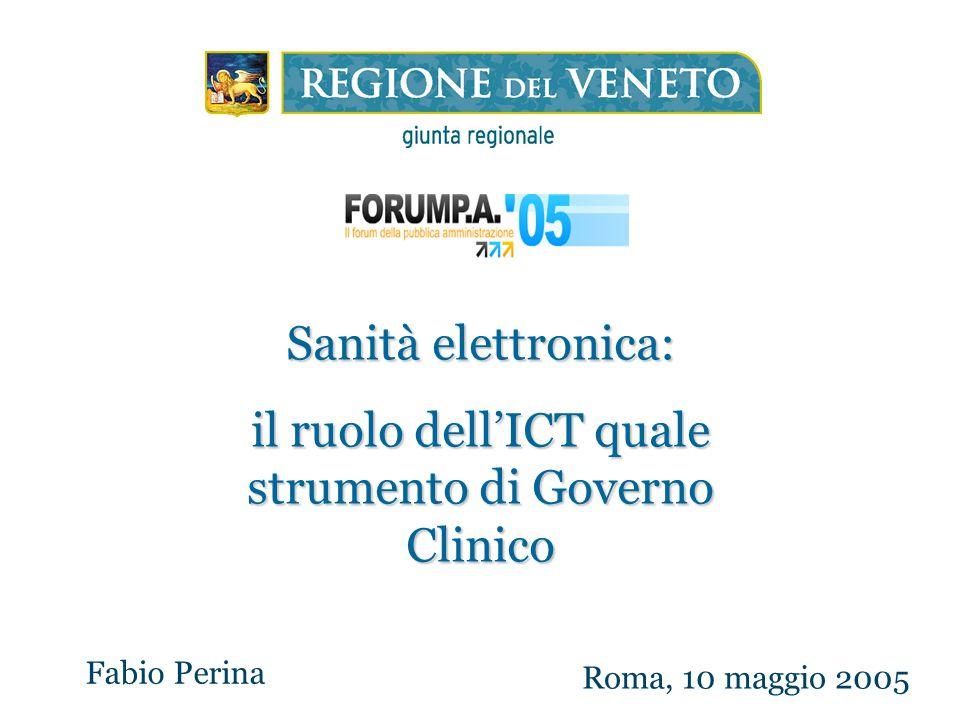il ruolo dell'ICT quale strumento di Governo Clinico