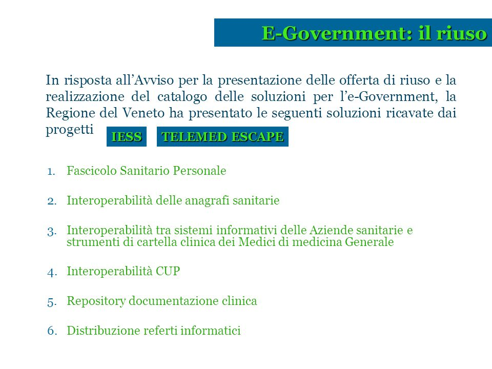 E-Government: il riuso