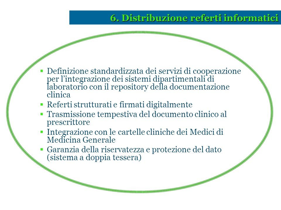 6. Distribuzione referti informatici