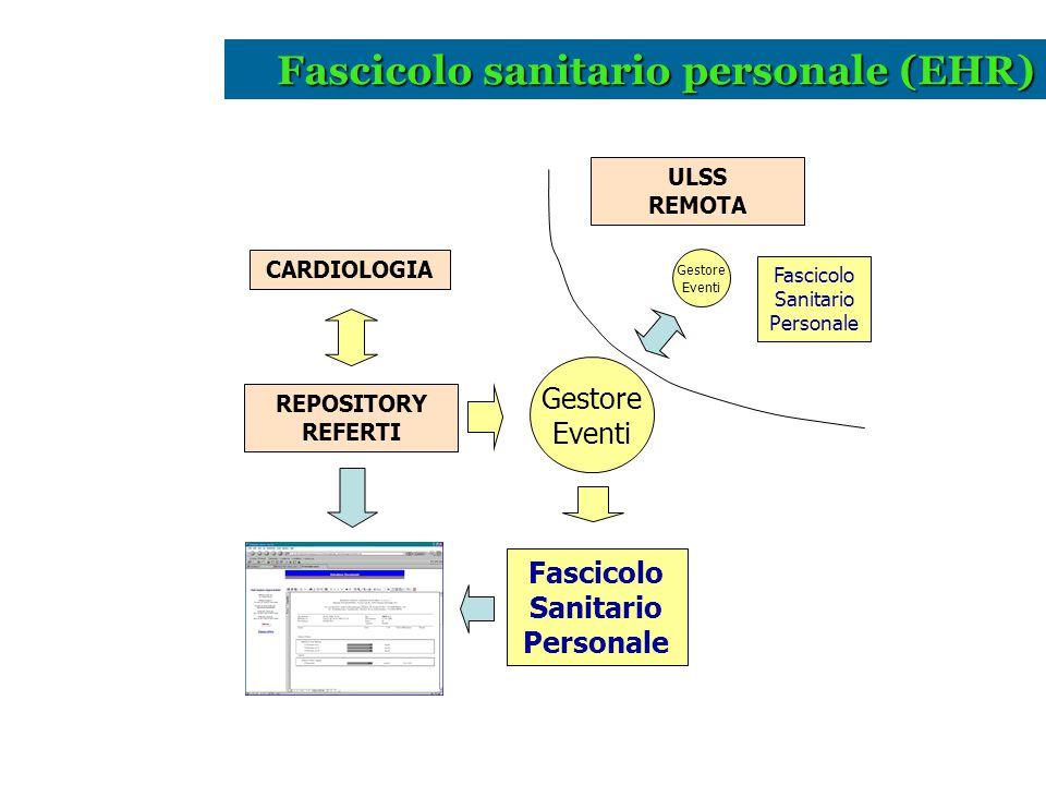 Fascicolo sanitario personale (EHR)