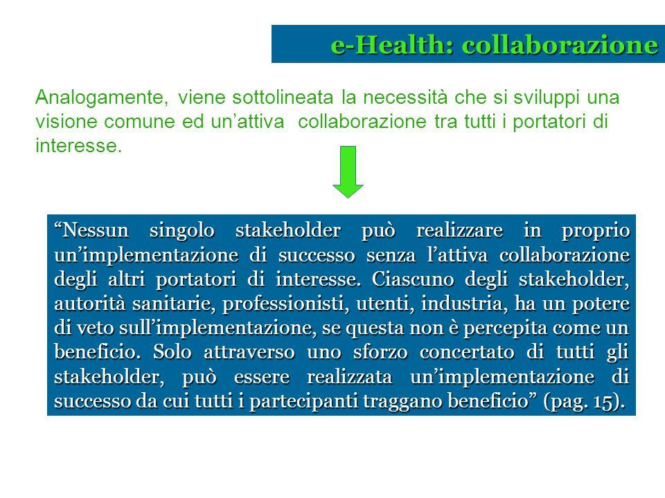 e-Health: collaborazione