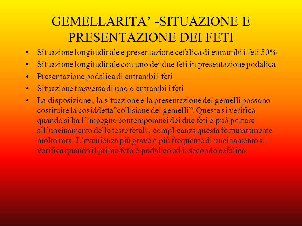 GEMELLARITA' -SITUAZIONE E PRESENTAZIONE DEI FETI