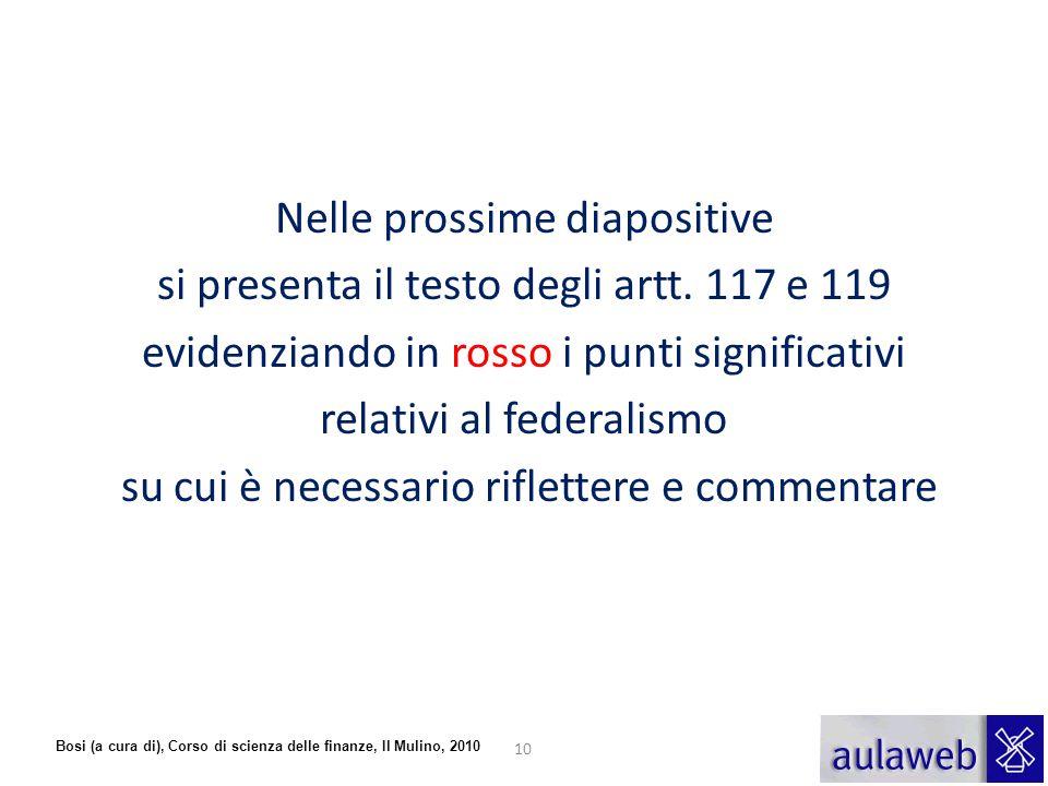 Nelle prossime diapositive si presenta il testo degli artt