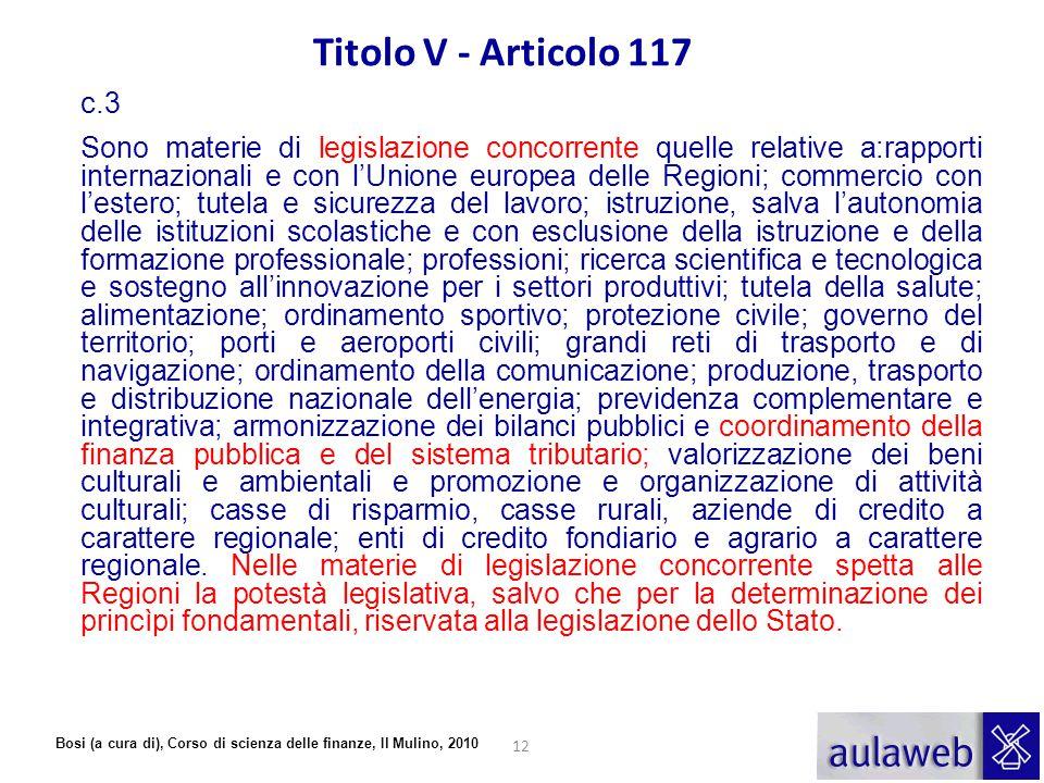 Titolo V - Articolo 117 c.3.