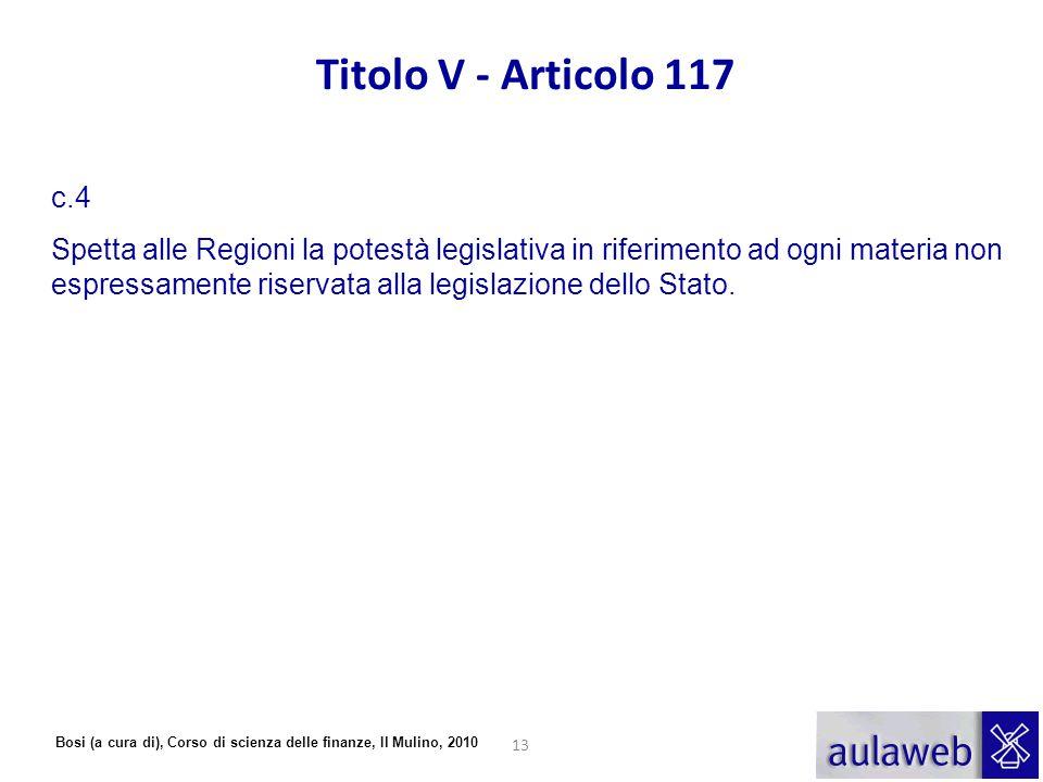 Titolo V - Articolo 117 c.4.
