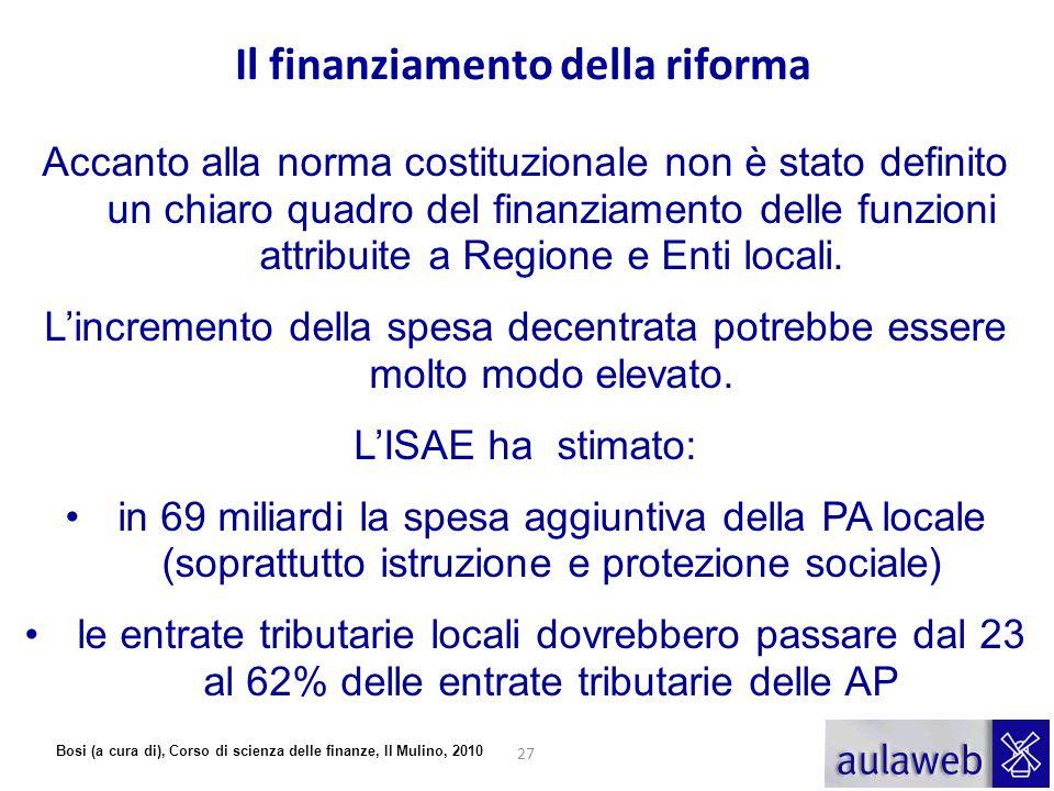 Il finanziamento della riforma