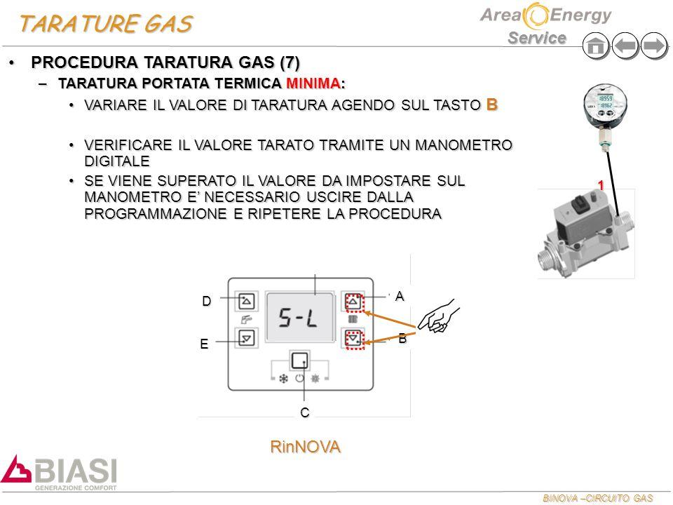 TARATURE GAS PROCEDURA TARATURA GAS (7) RinNOVA