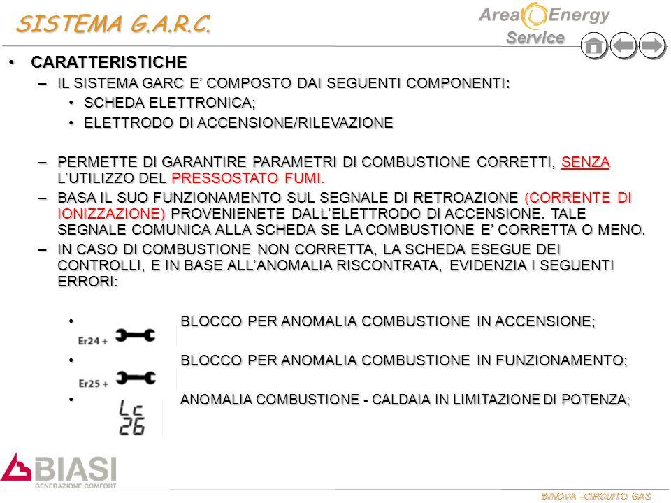 SISTEMA G.A.R.C. CARATTERISTICHE