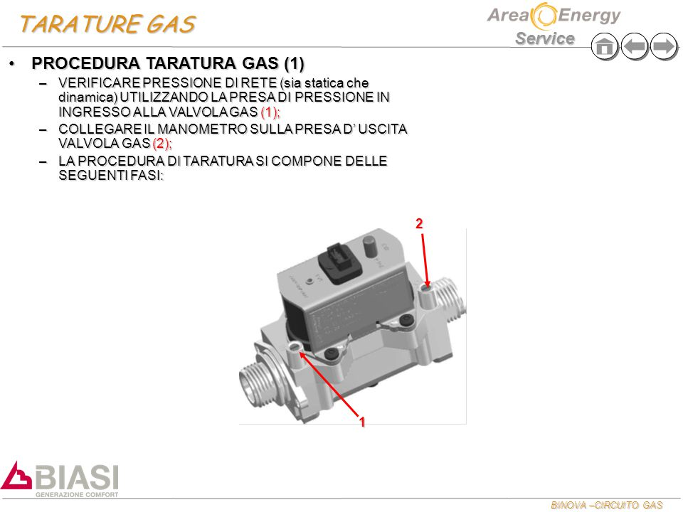 TARATURE GAS PROCEDURA TARATURA GAS (1)