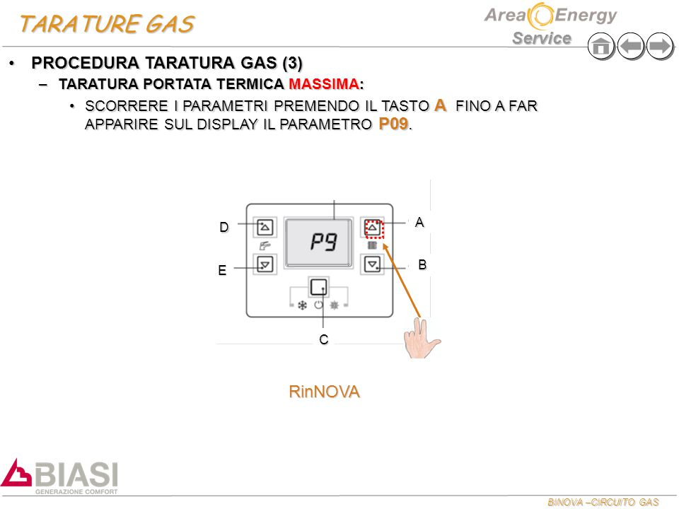 TARATURE GAS PROCEDURA TARATURA GAS (3) RinNOVA