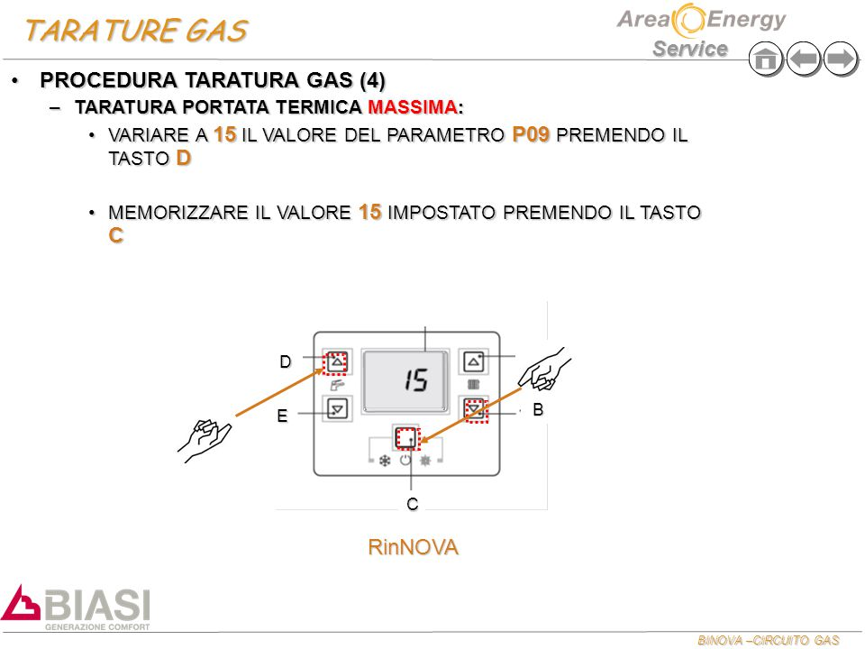 TARATURE GAS PROCEDURA TARATURA GAS (4) RinNOVA