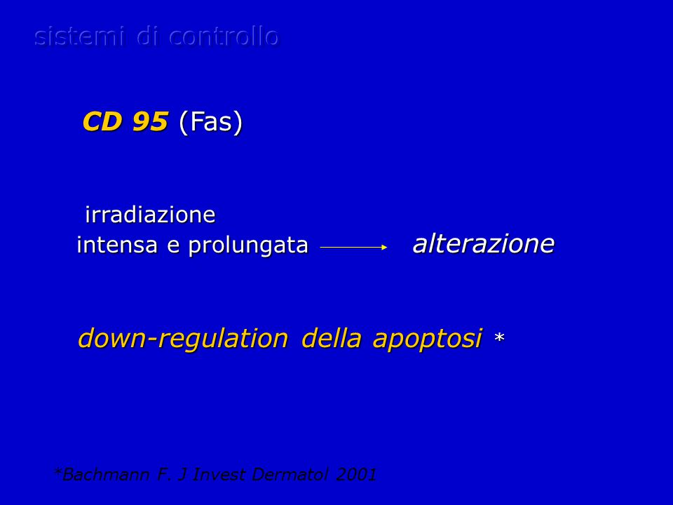 down-regulation della apoptosi *