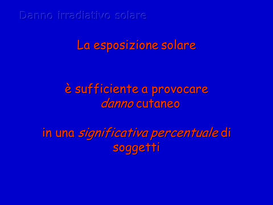 Danno irradiativo solare