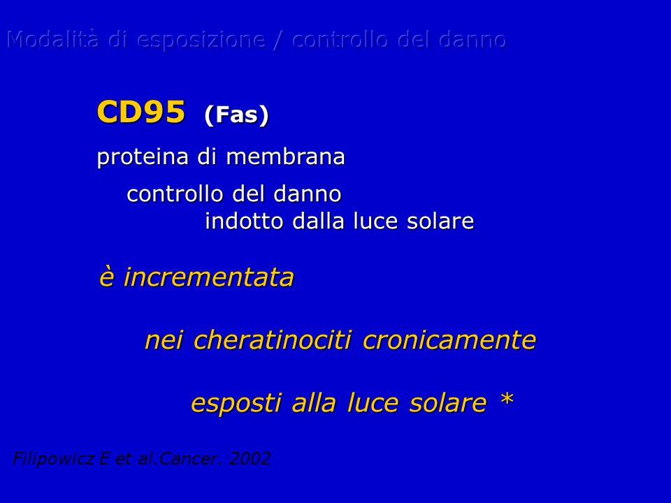 CD95 (Fas) è incrementata nei cheratinociti cronicamente