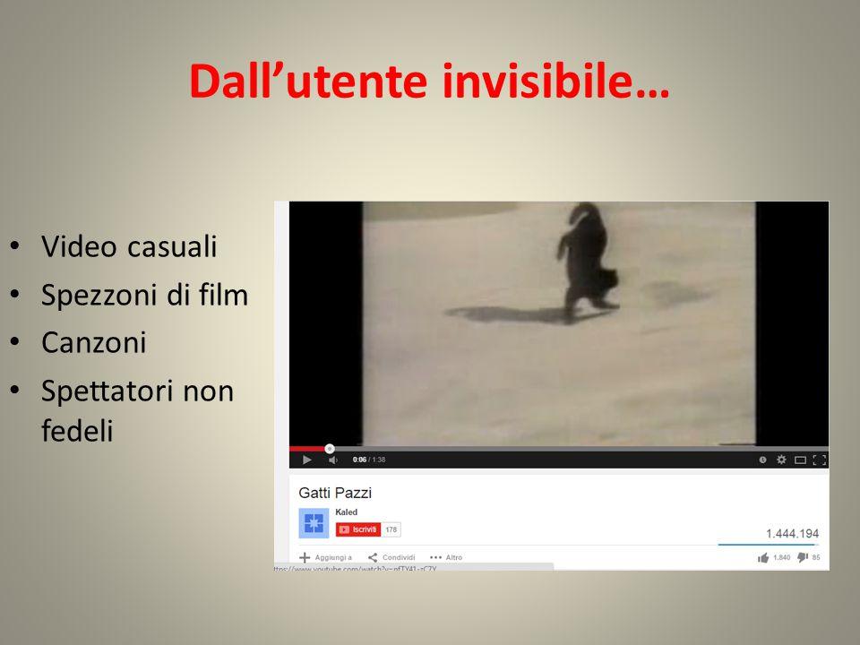 Dall'utente invisibile…