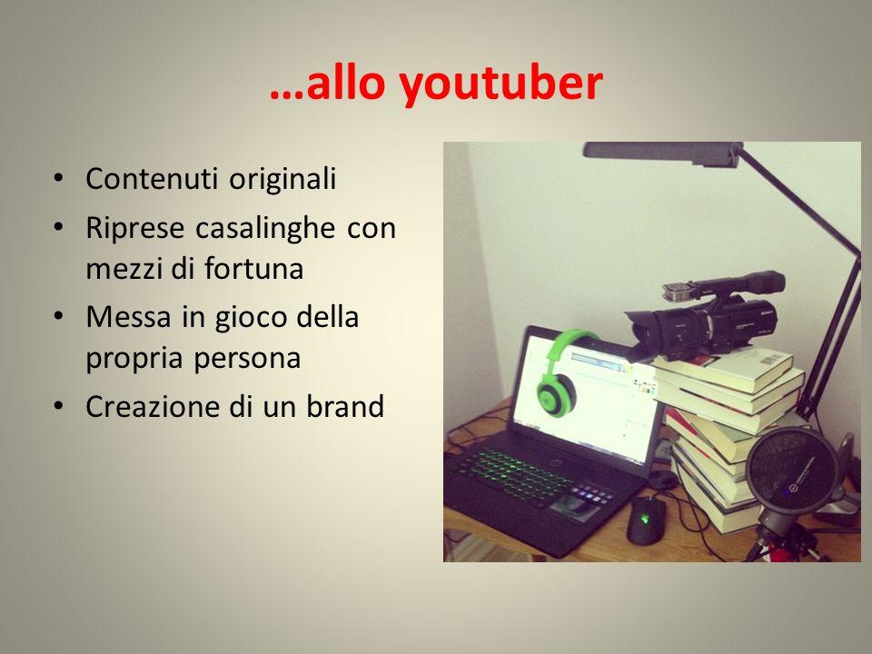 …allo youtuber Contenuti originali