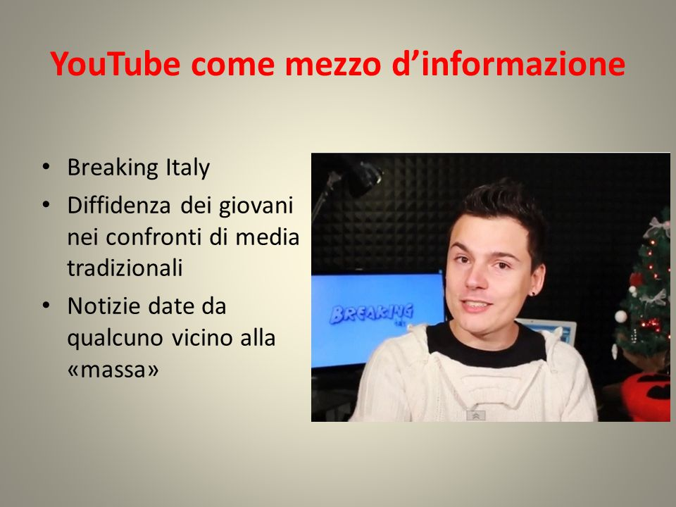 YouTube come mezzo d'informazione