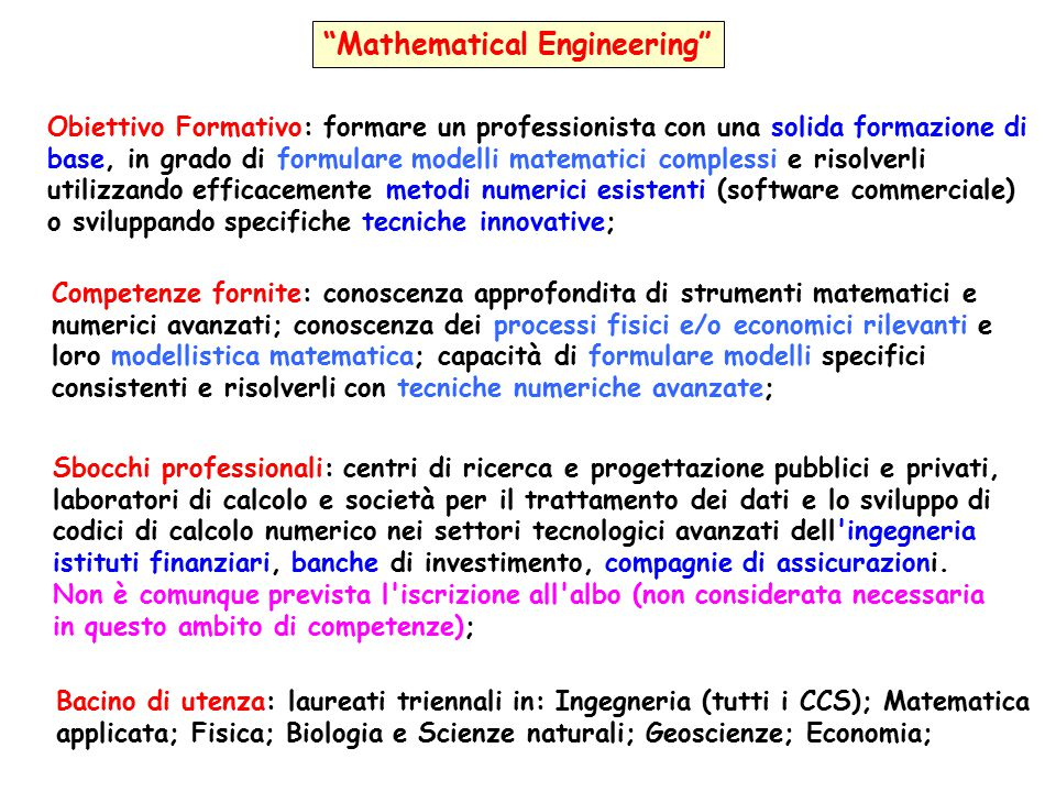 Mathematical Engineering