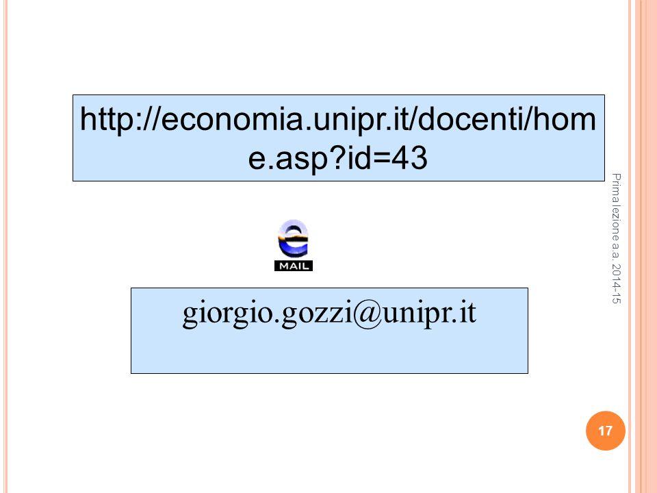 http://economia.unipr.it/docenti/home.asp id=43 giorgio.gozzi@unipr.it