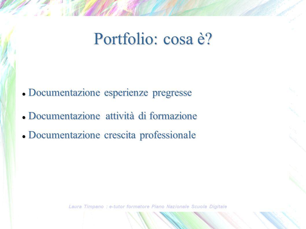 Portfolio: cosa è Documentazione esperienze pregresse