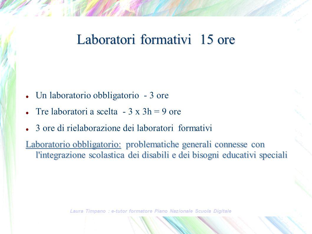 Laboratori formativi 15 ore
