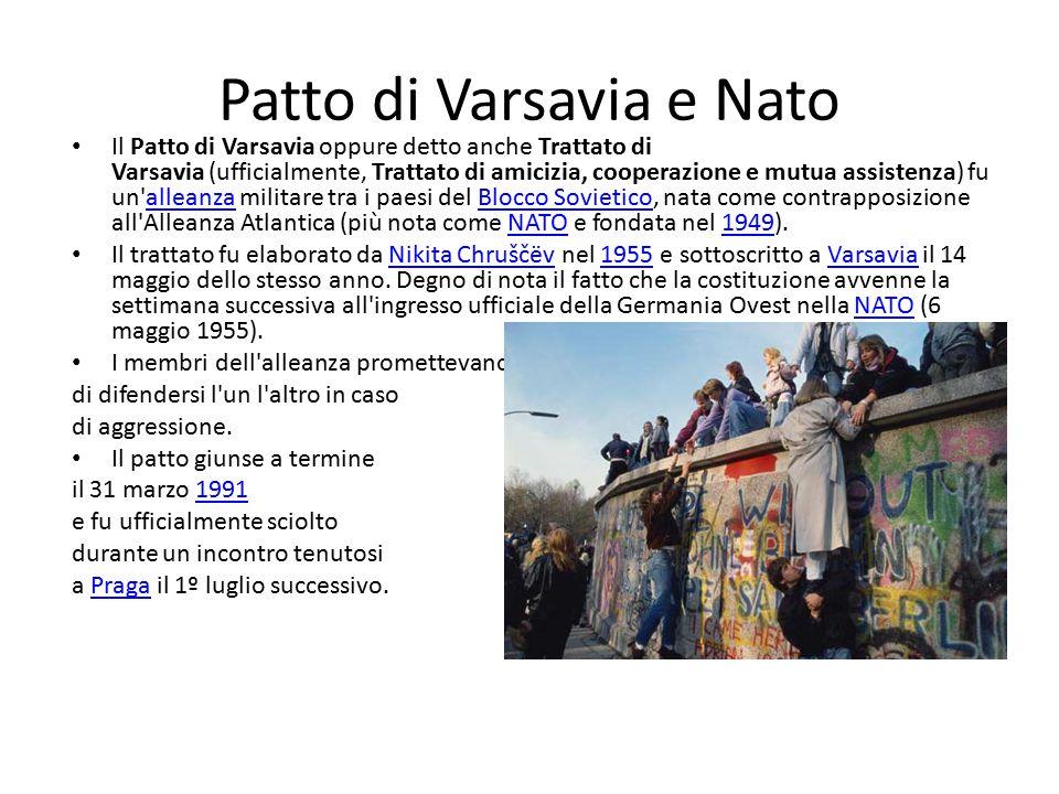 Patto di Varsavia e Nato