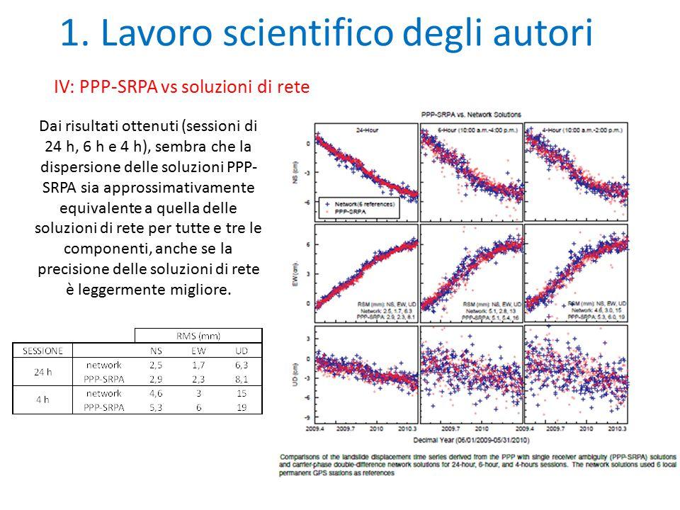 1. Lavoro scientifico degli autori