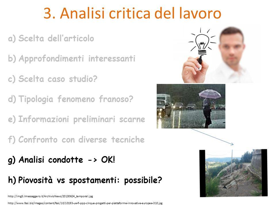 3. Analisi critica del lavoro