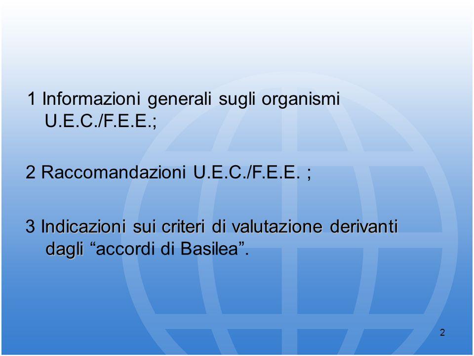 1 Informazioni generali sugli organismi U.E.C./F.E.E.;
