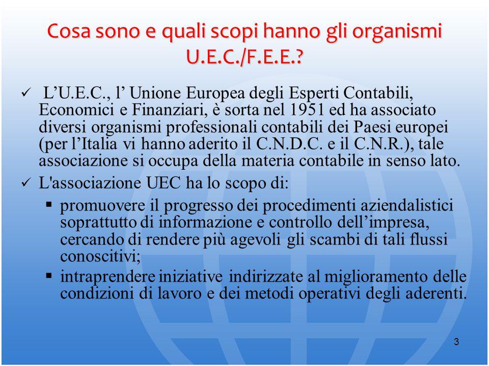 Cosa sono e quali scopi hanno gli organismi U.E.C./F.E.E.